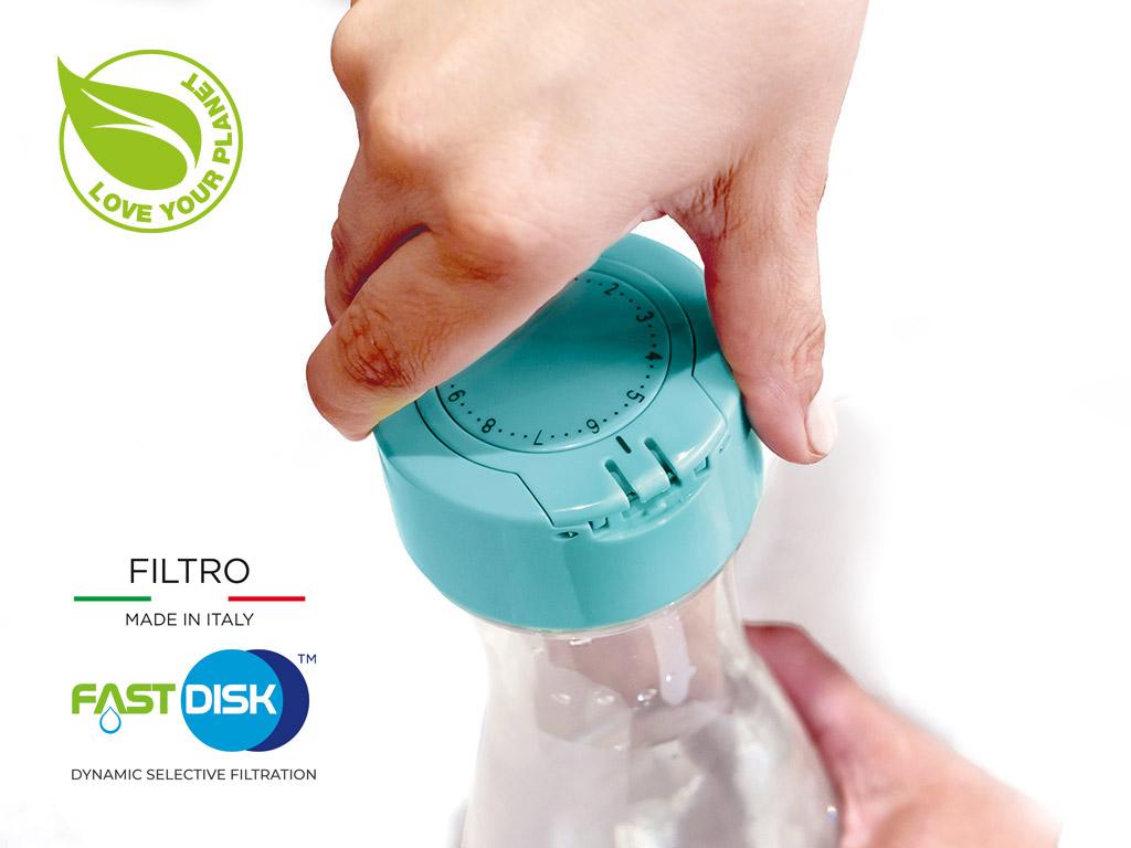 bottiglia filtrante flow n go laica